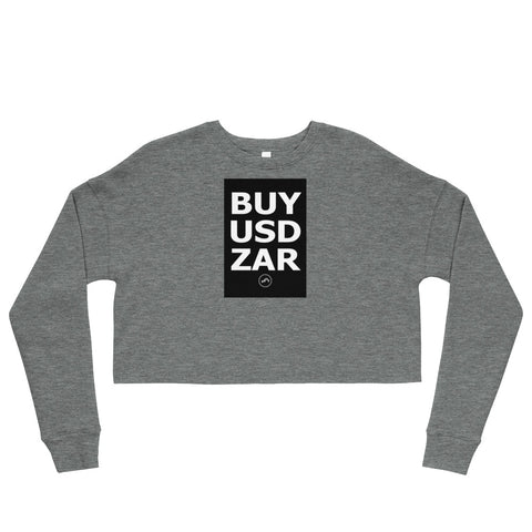 BUY USDZAR Crop Sweatshirt | Forex Trading Apparel