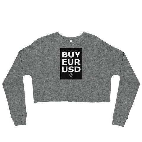 BUY EURUSD Crop Sweatshirt | Forex Trading Apparel