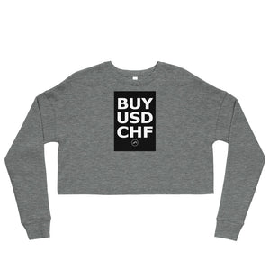 BUY USDCHF Crop Sweatshirt | Forex Trading Apparel