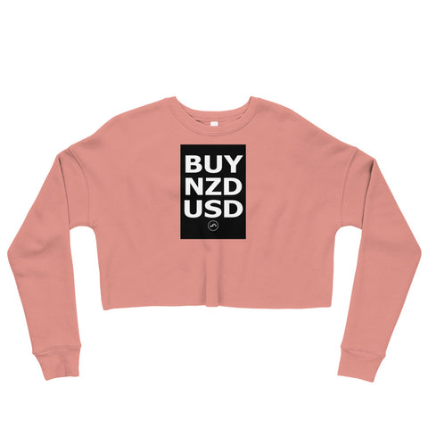 BUY NZDUSD Crop Sweatshirt | Forex Trading Apparel