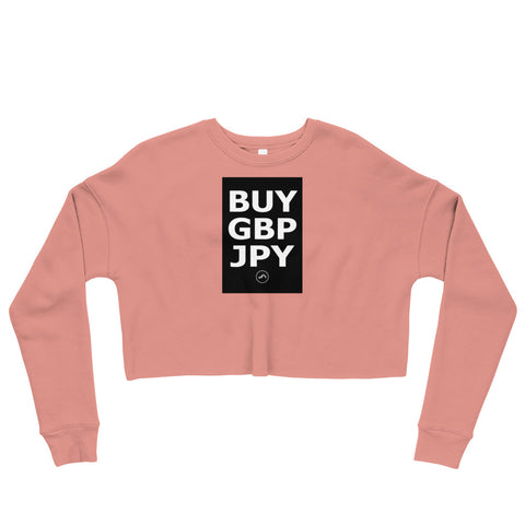 BUY GBPJPY Crop Sweatshirt | Forex Trading Apparel