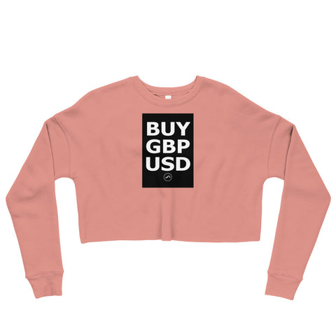 BUY GBPUSD Crop Sweatshirt | Forex Trading Apparel