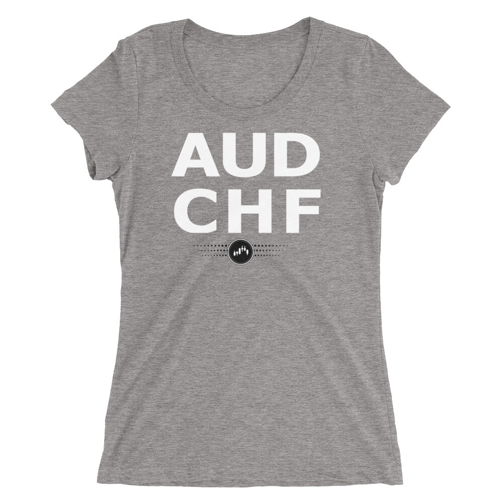 AUDCHF Tee (Ladies) | Forex Trading Apparel - Fly Trader Tee