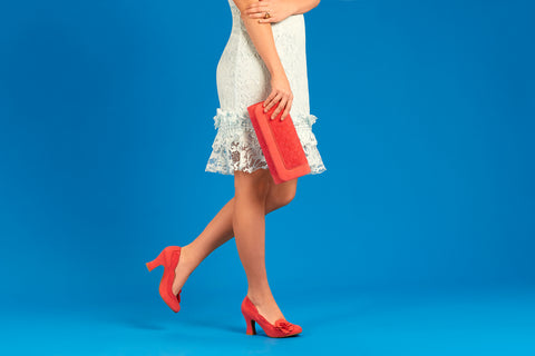 Ruby Shoo Chrissie Court Shoes with Tirana Bag in Coral