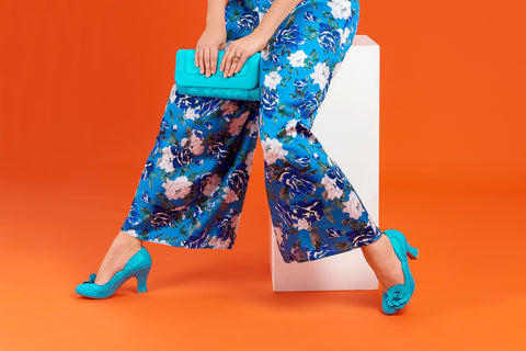 Ruby Shoo Chrissie and Tirana in Turquoise