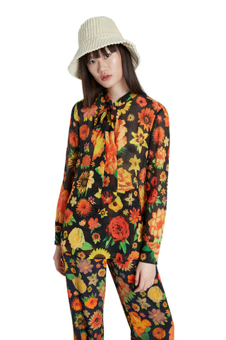 Desigual by M Christian Lacroix Flowers Blouse in Autumn Floral Print AW20 20WWBW24