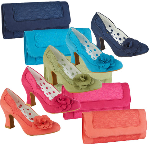 Ruby Shoo Chrissie Mid Heel Court Shoes and Matching Tirana Bag