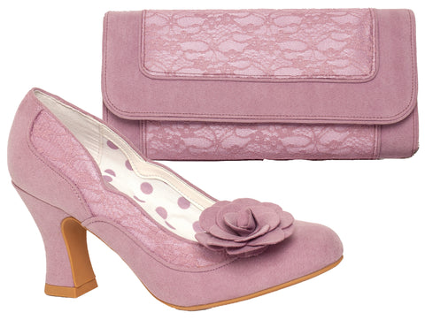 Ruby Shoo Chrissie Court Shoe and Tirana Bag in Mauve Pink