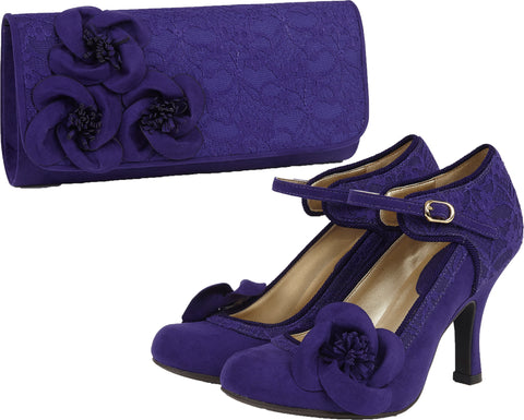 Ruby Shoo Anna and Milan in Purple