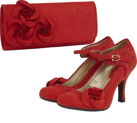 Ruby Shoo Anna and Milan in Red