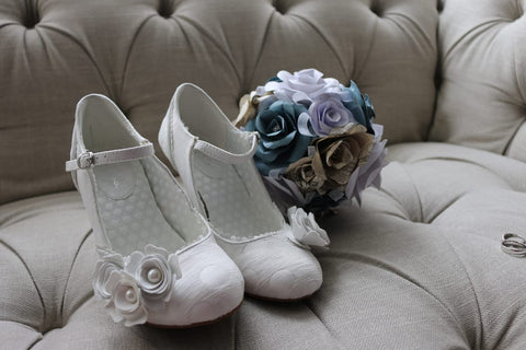 Antonia in white silver as wedding bridal shoes