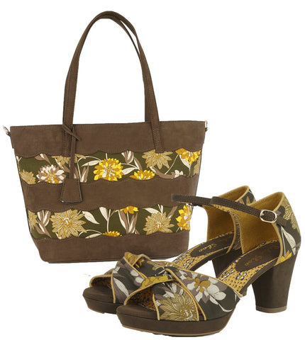 Ruby Shoo Xanthe Shoes and Mijas Bag in Olive