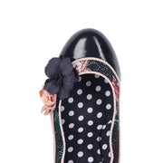 Ruby Shoo Viola Navy Floral Court Shoe