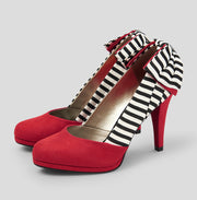 Ruby Shoo Katie Red Court Shoes