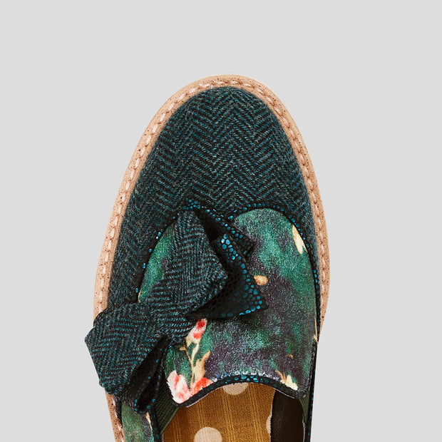 Ruby Shoo Joanne Green Loafer Shoes