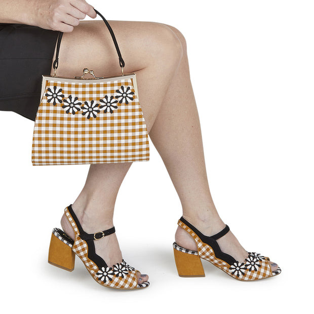 Ruby Shoo Mendoza Ochre Bag ( Matches Hera Heels)