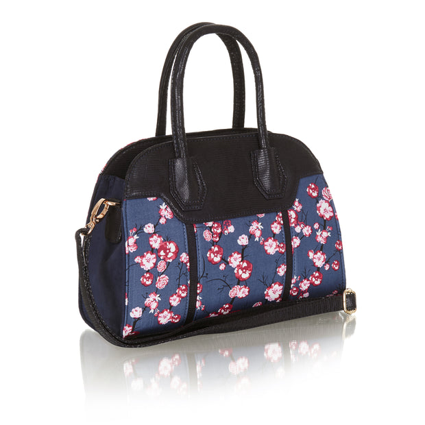 Ruby Shoo Cancun Blue Floral Shoulder Bag (Matches Rosalind Mid-Heels)