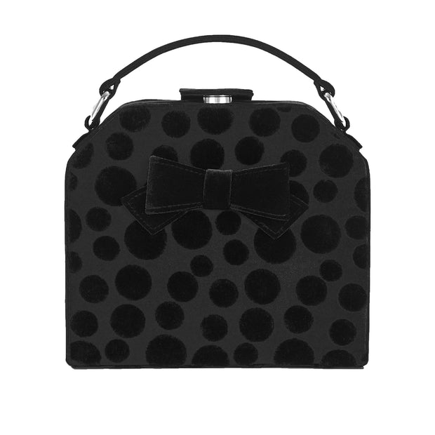Ruby Shoo Santa Fe Black Top Handle Box Bag (Matches Cressida)