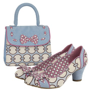 Ruby Shoo Hayley Sky Blue Heels & Matching Santiago Bag