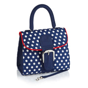 Ruby Shoo Riva Navy Spot Top Handle Bag (Matches Trixie, Aisha, Crystal, Lizzie, Evie )