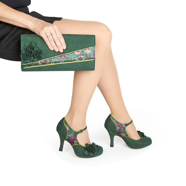 Ruby Shoo Banbury Green Clutch Bag (Matches Ashley Shoes)