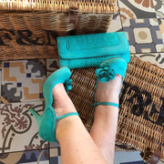 Ruby Shoo *BELLE DIVINO EXCLUSIVE* Josie Jade Teal Lace Mary Jane Pumps & Matching Tirana Bag