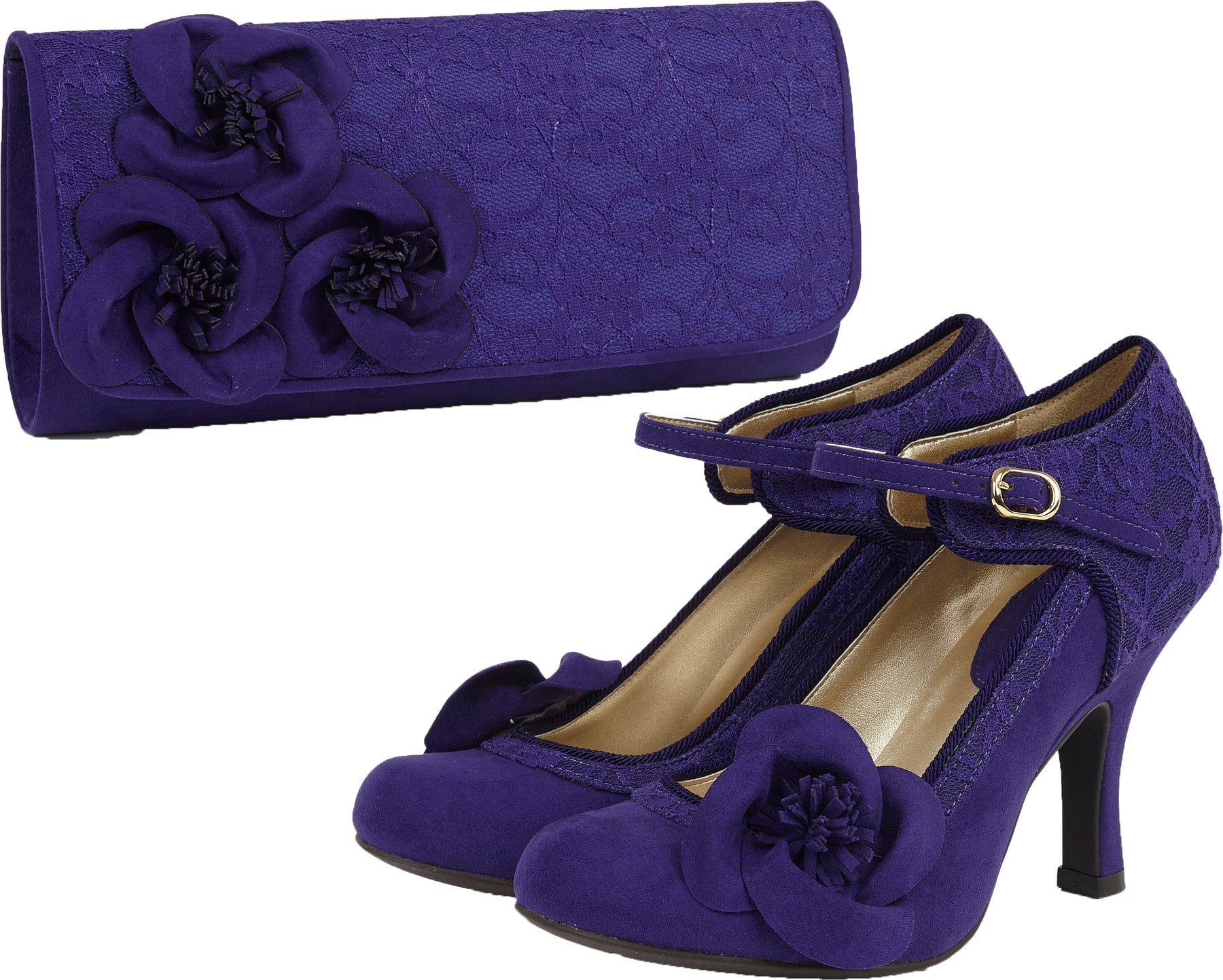 Ruby Shoo Womens Polly Mary Jane Pumps /& Free Belle Divino Sole Protector