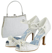 Ruby Shoo Toulouse White/Silver Bag (Matches Clarissa Peeptoes)