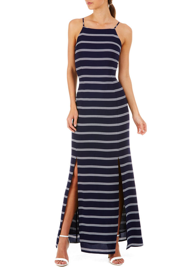 Sugarhill Boutique Navy Stripe Nautical Maxi Dress