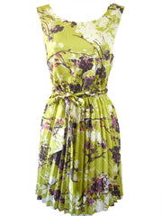 Darling Women's Floral Piper Pleated Dress M UK 12