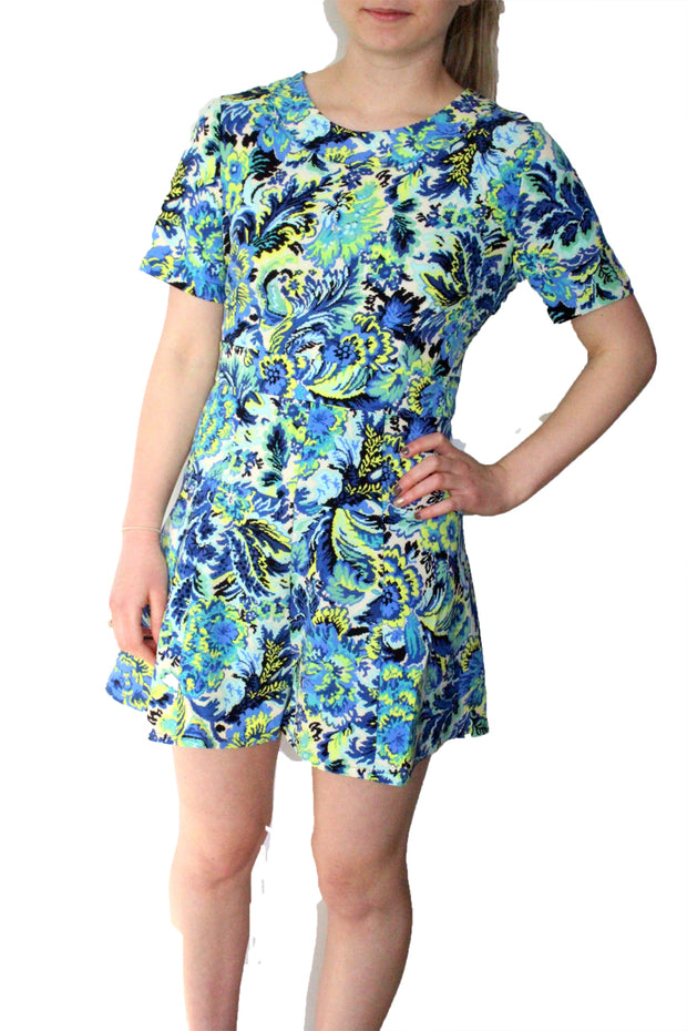 Darling Women's Blue White Turquoise Skyla Playsuit