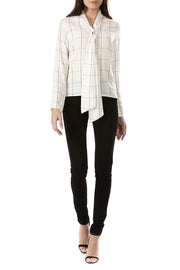 Sugarhill Boutique Women's Sarah Check Long Sleeved Blouse