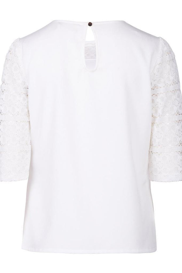 Sugarhill Boutique Ladies White Lace Blouse