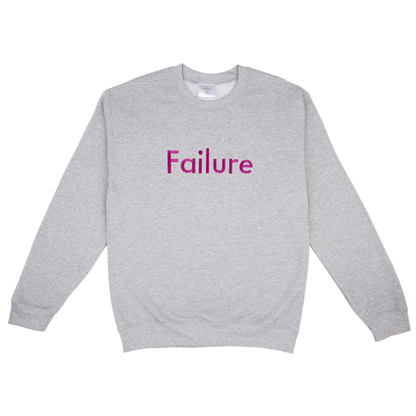 FAILURE EMBROIDERED GREY MARL SWEATER