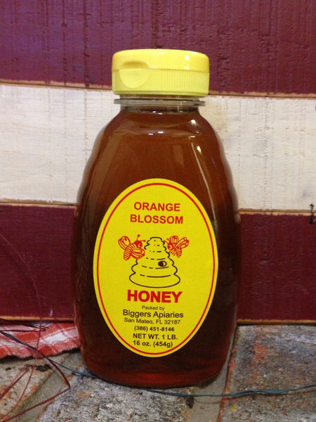 Orange Blossom Raw Honey (1b) (16oz) (plastic)
