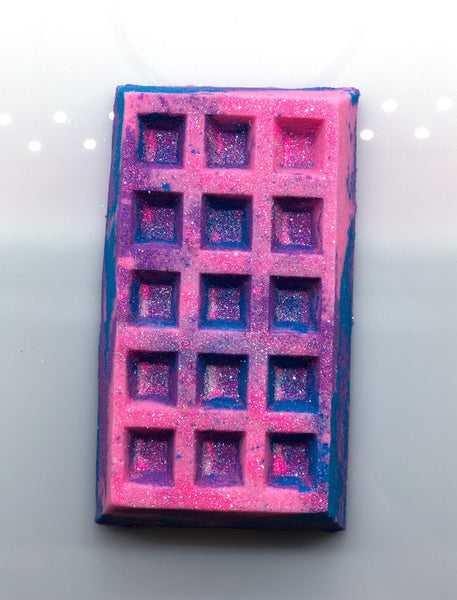 XL Unicorn Cotton Candy Waffle Bath Bomb