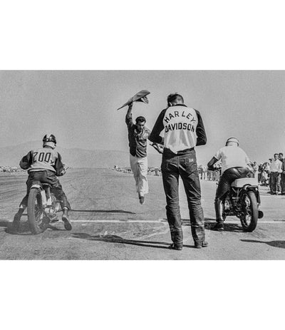 Harley Davidson drag racing vintage photo - Richard Stefani - Stefani Fine Art