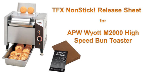 "TFX NonStick! PTFE Release Sheet for APW Wyott M2000 High Speed Bun Toaster 16 x 24"" (10-pack)"