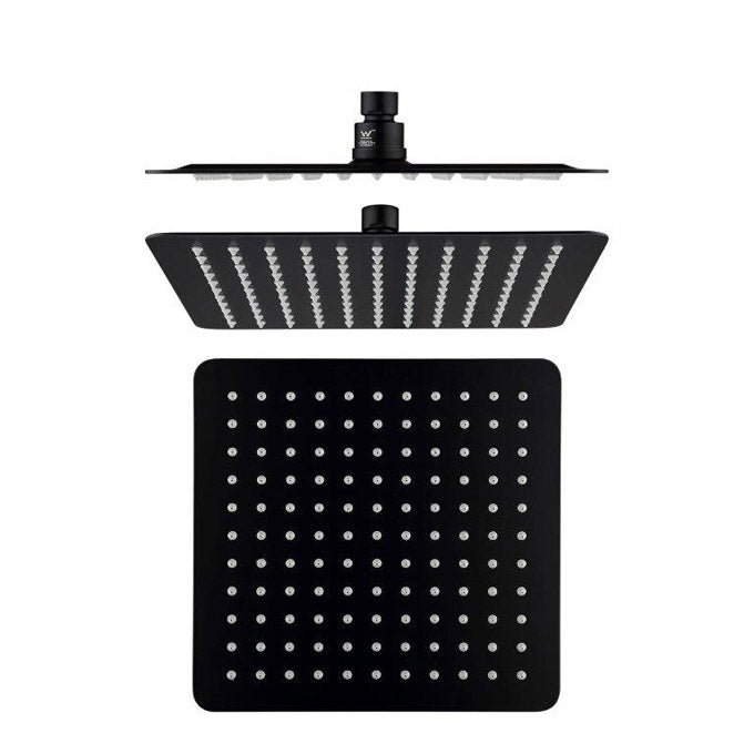 SQUARE SHOWER ROSE BLACK