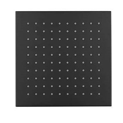 SQUARE BRASS SHOWER ROSE BLACK