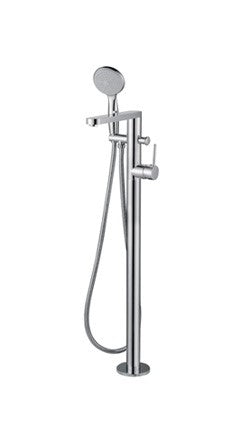 FLOOR STANDING BATH MIXER WITH HAND SHOWER