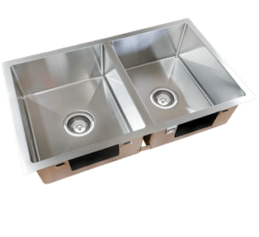 Excellence Squareline Double Bowl Sink