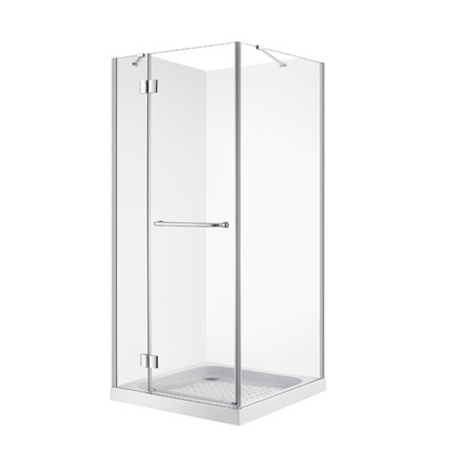 FRAMELESS SHOWER ENCLOSURE 90