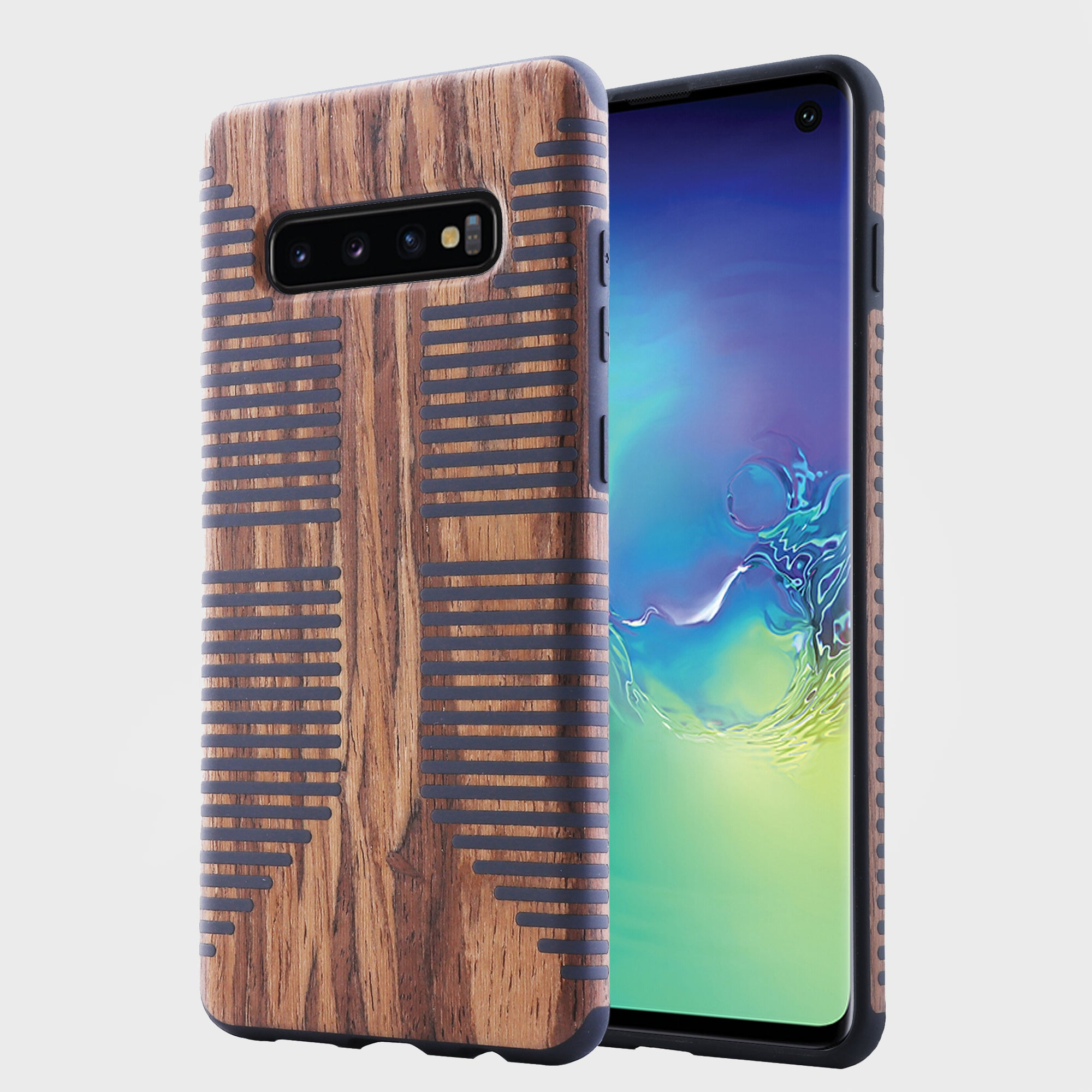 Wood Grain Texture Case for Samsung Galaxy S10 Plus