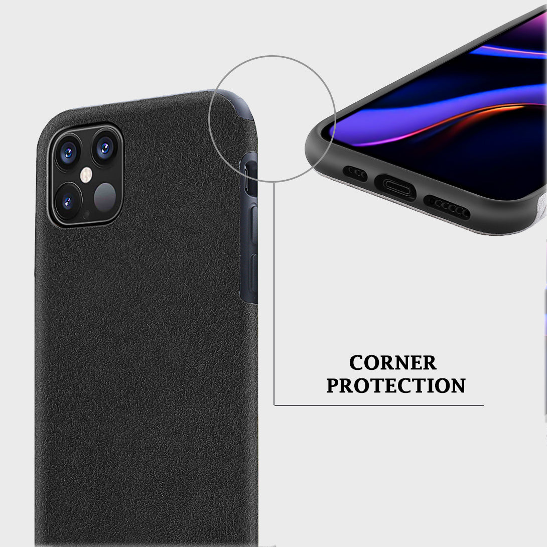 Luxury Protective Case for Apple iPhone 12 Pro Max [6.7 inches] Ultra Slim Alcantara Material