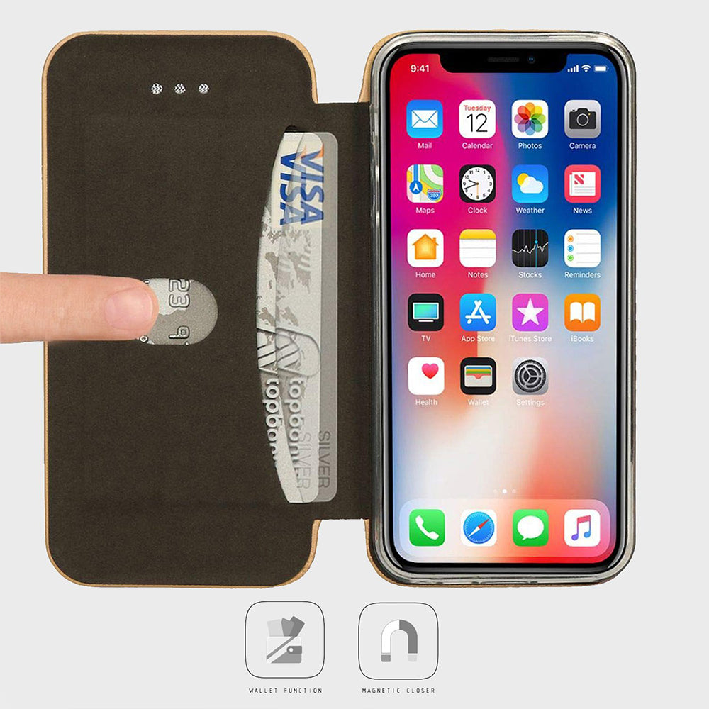 Flip Leather Wallet Case for iPhone Xs Max