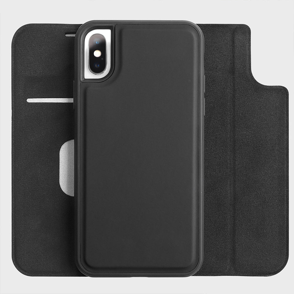 Leather Wallet Magnet Case for iPhone Xs