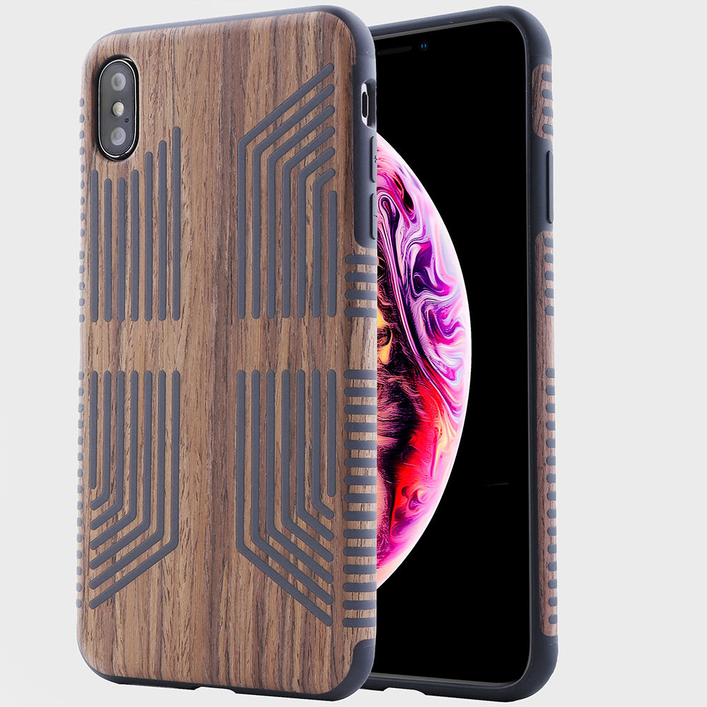 Wood Grain Texture Case for Apple iPhone Xs