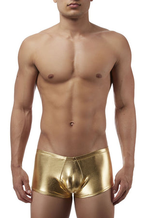 Male Power 153070 Heavy Metal Mini Short Boxer Briefs Color Gold