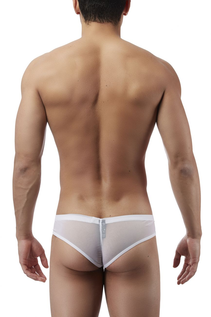 Male Power PAK883 Euro Male Mesh Shirred Pouch Manty Briefs Color White